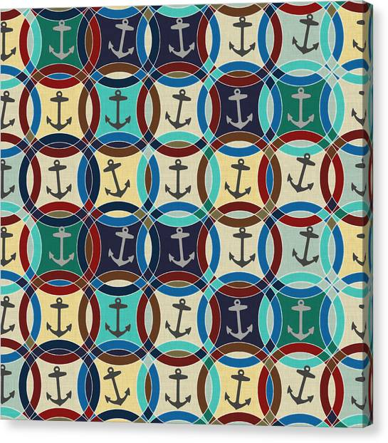 Pattern Canvas Print - Anchors by Sharon Turner