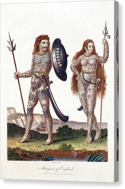 Briton Canvas Print - Ancient Britons by Paul D Stewart