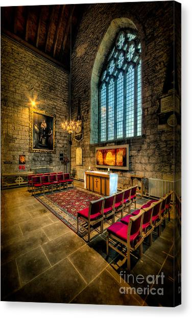 Aisle Canvas Print - Ancient Cathedral by Adrian Evans