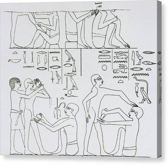 Egyptian Art Canvas Print - Ancient Circumcision by Science Photo Library