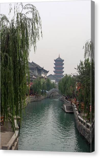 Ancient City Canvas Print by Qing