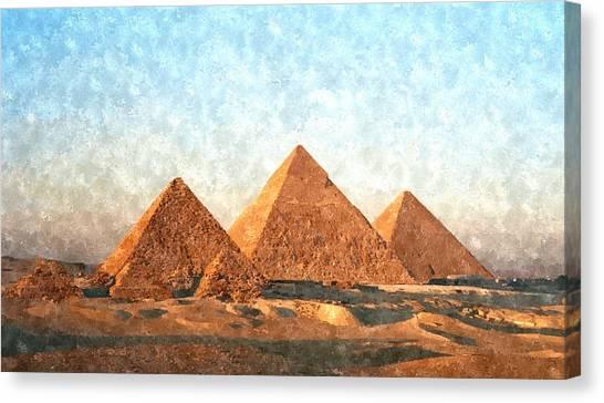Ancient Egypt The Pyramids At Giza Canvas Print