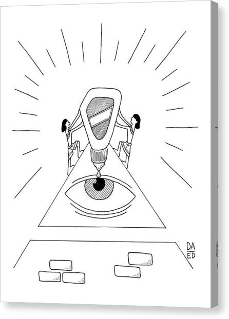 Egyptian Art Canvas Print - Ancient Egyptians Drop Eye Drops Into An Ancient by Dan Abromowitz Eli Dreyfus