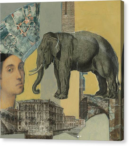 Ancient Elephant Canvas Print