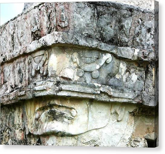 Ancient Face Canvas Print