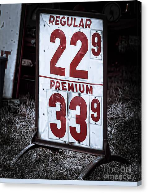 Ancient Gas Prices Canvas Print
