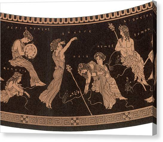 Ancient Greece A Female Dancer Canvas Print by Mary Evans Picture Library