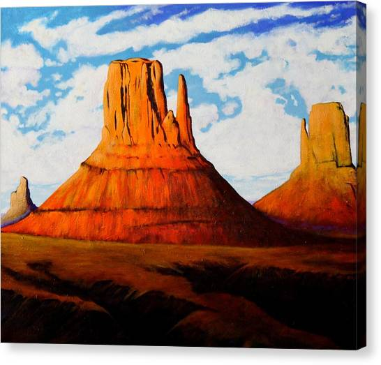 Ancient Land Monument Valley Canvas Print by Joe  Triano