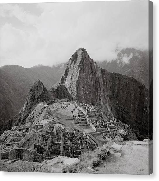 Ancient Machu Picchu Canvas Print