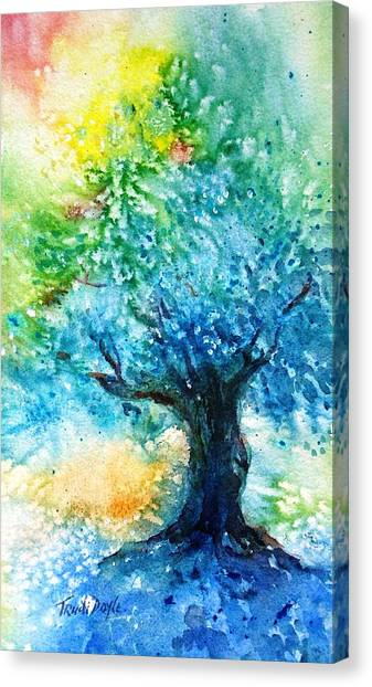 Ancient Olive Tree  Athenas Gift  Canvas Print by Trudi Doyle