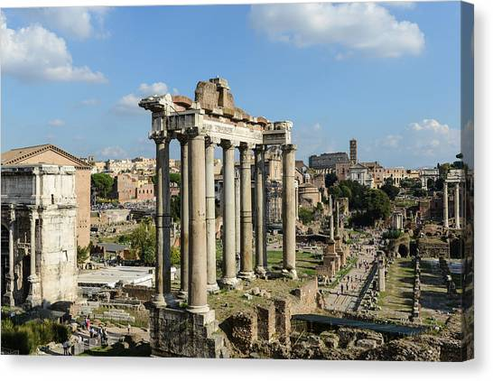 Monument Canvas Print - Ancient Ruins Of Rome - Imperial Forum - Italy by Brandon Bourdages