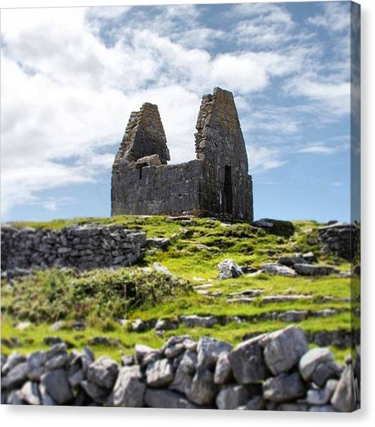 Ireland Canvas Print - Ancient Stone Church, Inishmore, Aran by Brian Governale
