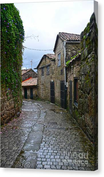 Ancient Street In Tui Canvas Print