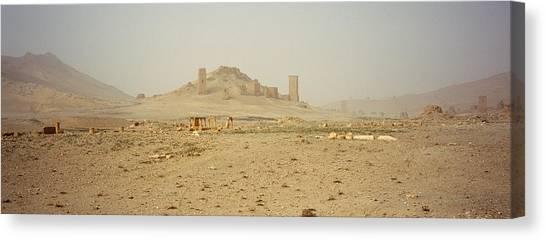 Syrian Canvas Print - Ancient Tombs On A Landscape, Palmyra by Panoramic Images