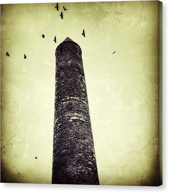 Vultures Canvas Print - Ancient Tower by Phil Tomlinson
