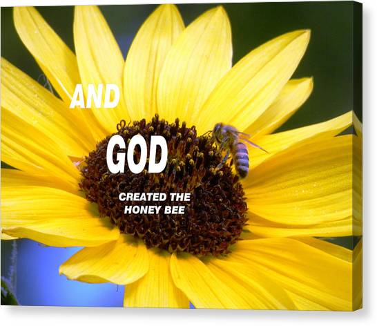 And God Created The Honey Bee Canvas Print
