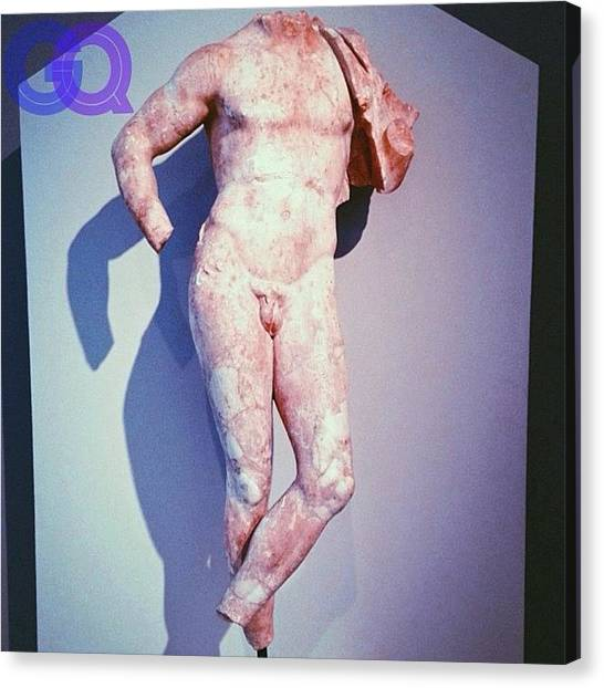 Roman Art Canvas Print - And Here We Have Early Origins Of Gq by Aaron Moses