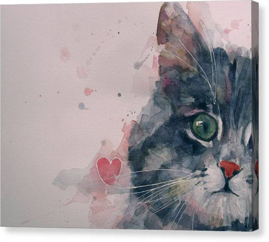 Tabby Cat Canvas Print - And I Love Her by Paul Lovering