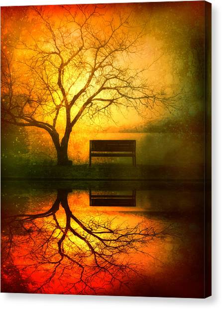 Sundown Canvas Print - And I Will Wait For You Until The Sun Goes Down by Tara Turner