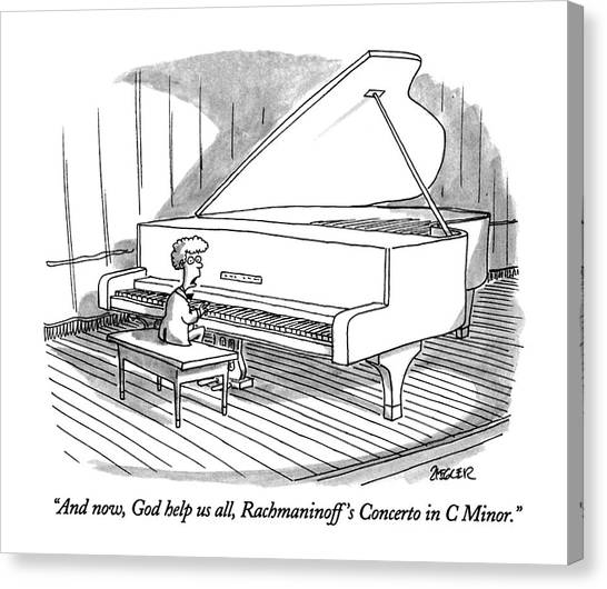 And Now, God Help Us All, Rachmaninoff's Concerto Canvas Print