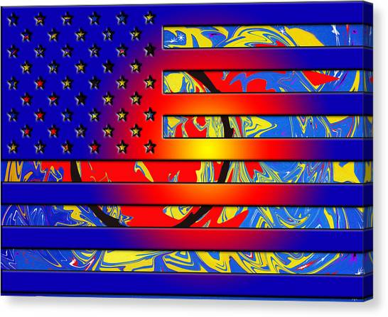And The Flag Still Stands Canvas Print