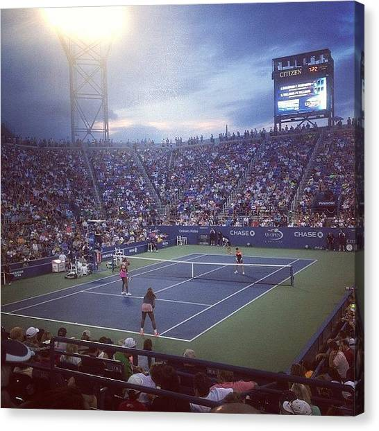 Tennis Canvas Print - And The Williams Sisters Win. Now The by Sam Pilnick