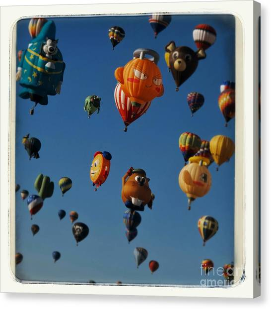 Hot Air Balloons Canvas Print - And They're Off by Susan See