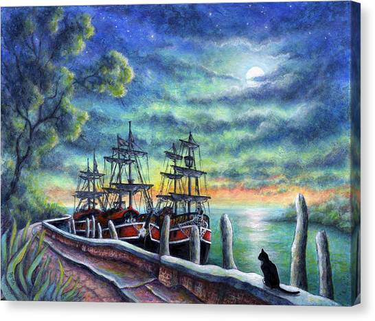 And We Shall Sail My Love And I Canvas Print