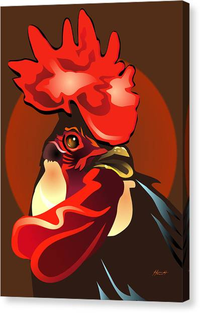 Andalusian Rooster The Second Canvas Print by Patricia Howitt