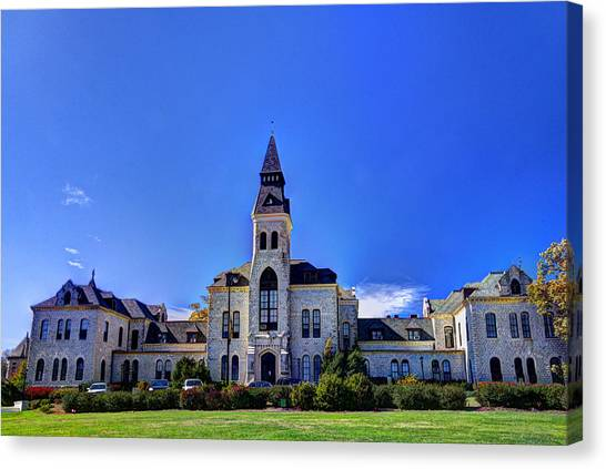 Kansas State University K-state Canvas Print - Anderson Hall At K-state by Jean Hutchison