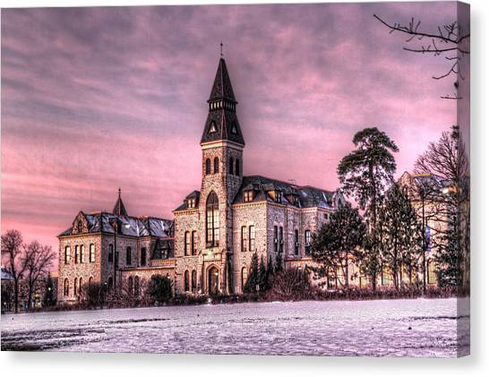 Kansas State University K-state Canvas Print - Anderson Hall by Corey Cassaw