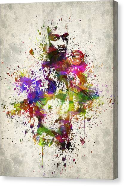 Karate Canvas Print - Anderson Silva by Aged Pixel