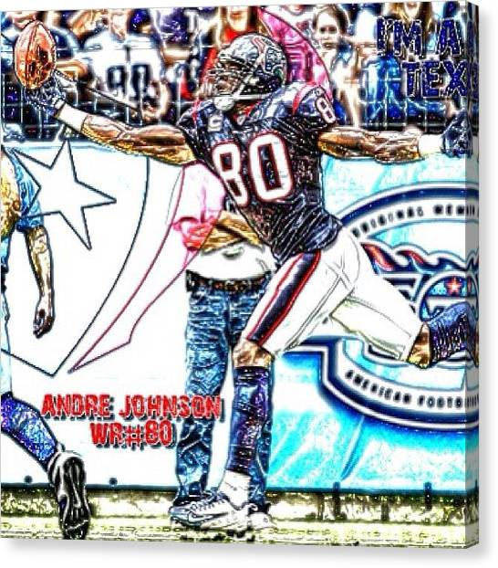 Houston Texans Canvas Print - Andre Johnson by Ben Anderson