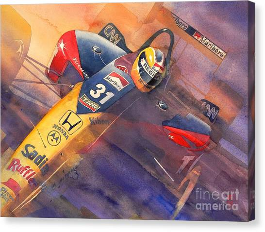 Nascar Canvas Print - Andre by Robert Hooper