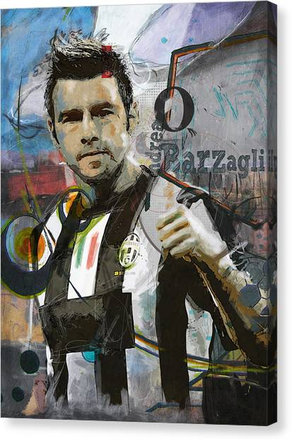 Fifa Canvas Print - Andrea Barzagli by Corporate Art Task Force