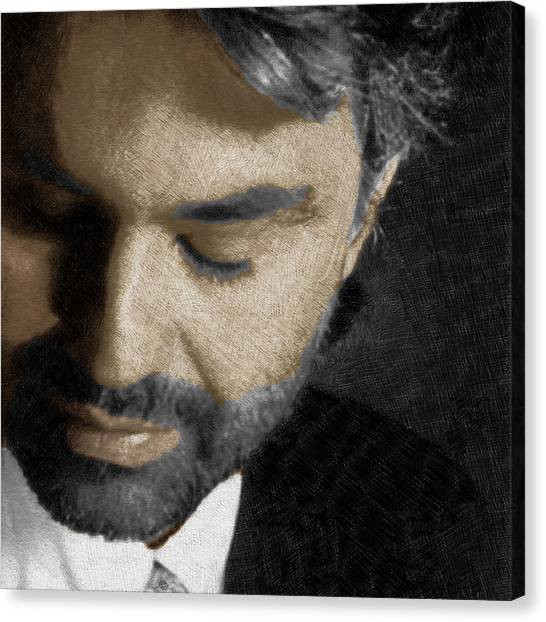Andrea Bocelli And Square Canvas Print