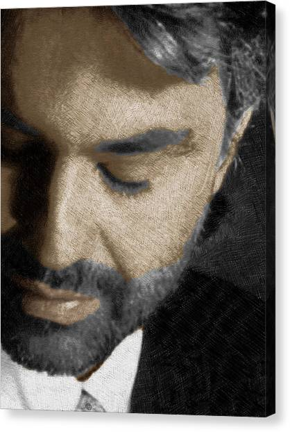 Andrea Bocelli And Vertical Canvas Print