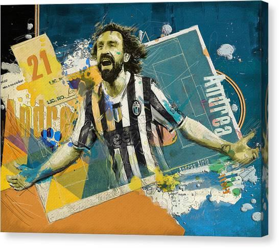 Premier League Canvas Print - Andrea Pirlo - B by Corporate Art Task Force