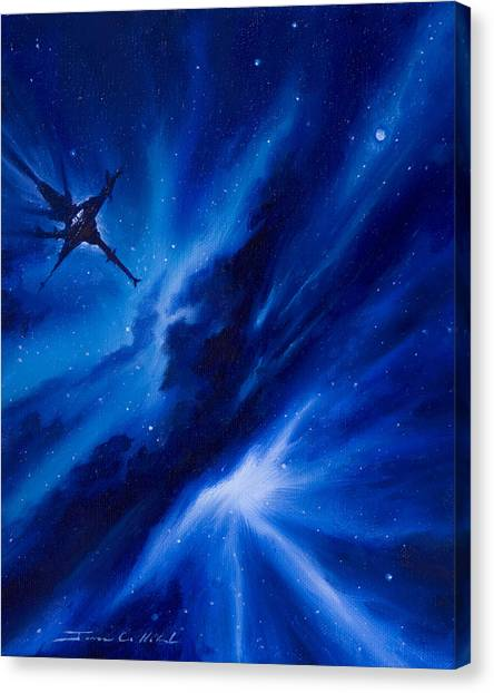 Stellar Canvas Print - Andreas Nebula by James Christopher Hill