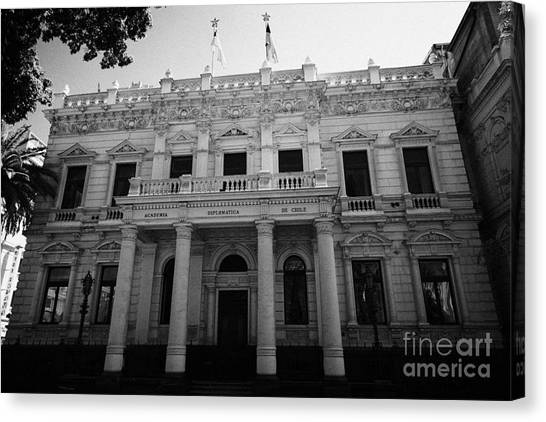 andres bello academia diplomatica de chile in edwards palace Santiago Chile Canvas Print by Joe Fox