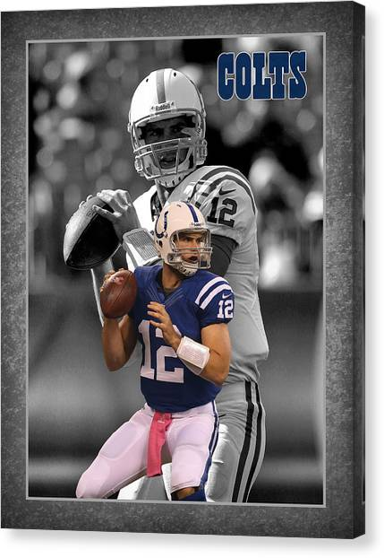 Andrew Canvas Print - Andrew Luck Colts by Joe Hamilton