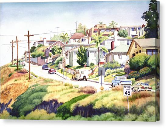 Mission Canvas Print - Andrews Street Mission Hills by Mary Helmreich
