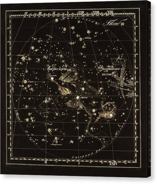 Andromeda Constellations, 1829 Canvas Print by Science Photo Library