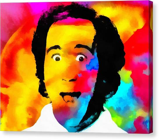 Jim Carrey Canvas Print - Andy Kaufman Pop Portrait by Dan Sproul