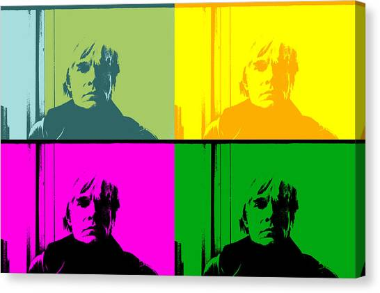 Jasper Johns Canvas Print - Andy Warhol As I See Him by Doc Braham