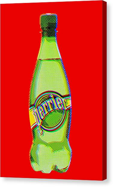 Jimmy Choo Canvas Print - Andy's One Perrier Dream by Brian King