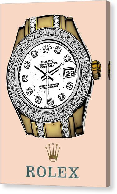 Jimmy Choo Canvas Print - Andy's One Rolex Dream by Brian King