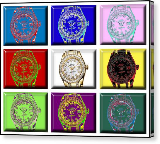 Jimmy Choo Canvas Print - Andy's Rolex Dream by Brian King
