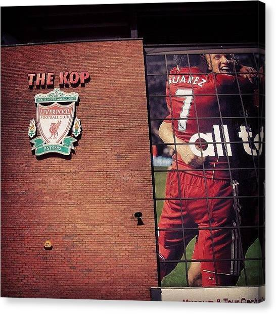 Football Canvas Print - Anfield - Liverpool #football #club by Abdelrahman Alawwad