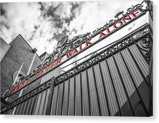 Liverpool Fc Canvas Print - Anfield - The Shankly Gates by Paul Madden